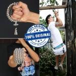 Outdoor Self Defense 108 Buddha Beads Necklace Chain - Full Brass Buddha Beads