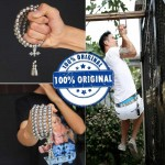 Outdoor Self Defense 108 Buddha Beads Necklace Chain - Full Stainless Steel Beads
