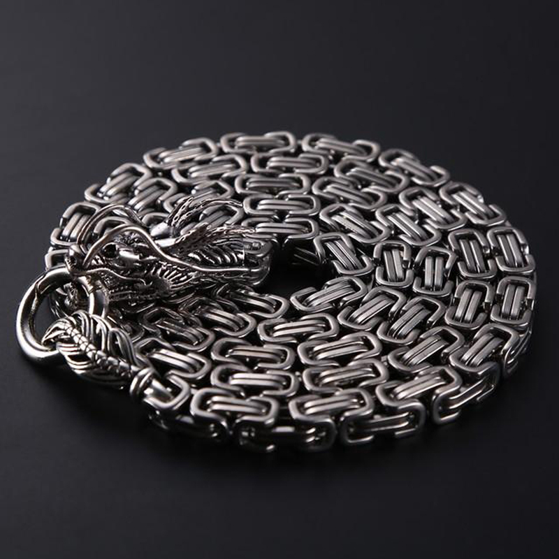 Outdoor Stainless Steel Self Defense Necklace Dragon Hand