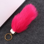 Mid Size Fox Tail Keychain Fluffy Fur Lady Bag Charms