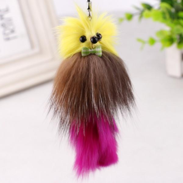 Mini Cute Genuine Rabbit Fur Ball Keychain