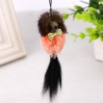 3 PCS Mini Rabbit Fur Ball KeyChain Cartoon Mouse Pendant