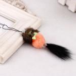 3 PCS Mini Rabbit Fur Ball KeyChain Cartoon Mouse Pendant