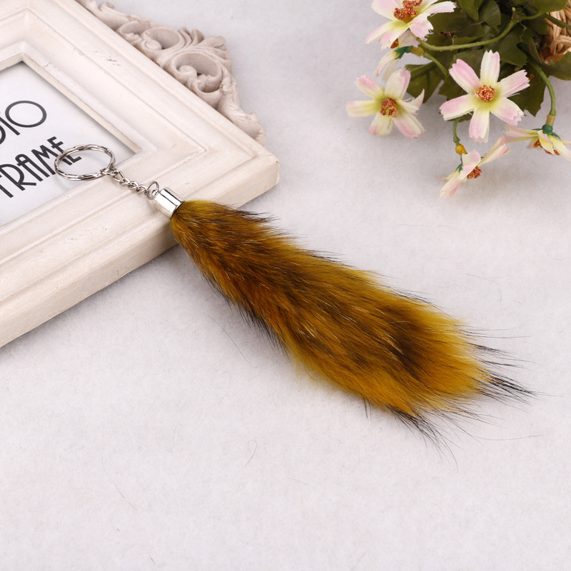 Mini Size Fox Tail Keychain - Fashion Foxtail With Keying for Womens ... 26040a0253
