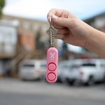 120 dB Personal Self Defense Alarm Double Loudspeaker LOUD Dual Alarm - PINK