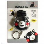 140 db Loud Cute Personal Alarm Emergency Alarm Cartoon Kumamon Keychain