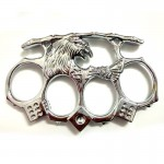 Silver Eagle Brass Knuckles Street Fighting Knuckle Dusters