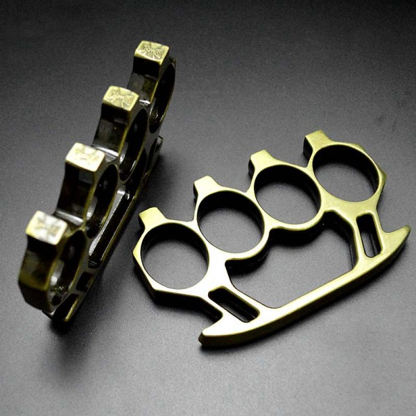 Shining Brass Knuckles Chrome Knuckle Dusters Self Defense Weapon
