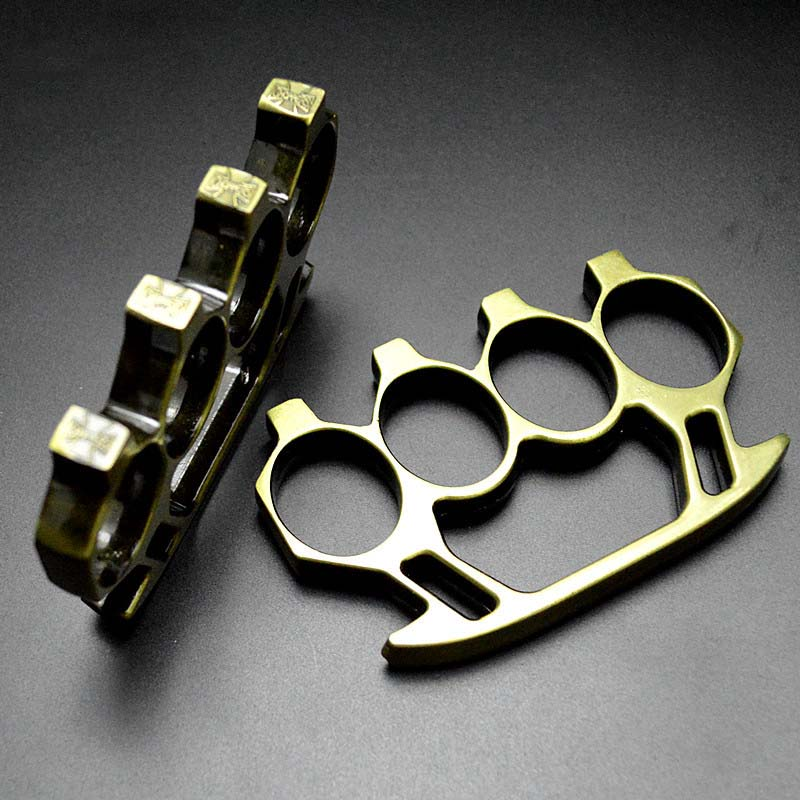 Shining Real Brass Knuckles Chrome Knuckle Dusters ...
