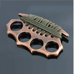 Bump Dot Thread Iron Fist Brass Knuckles Fighting Knuckle Duster with Nylon Rope