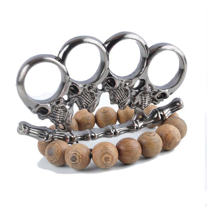 Zombies Skull Iron Fist Brass Knuckles Fighting Knuckle ...