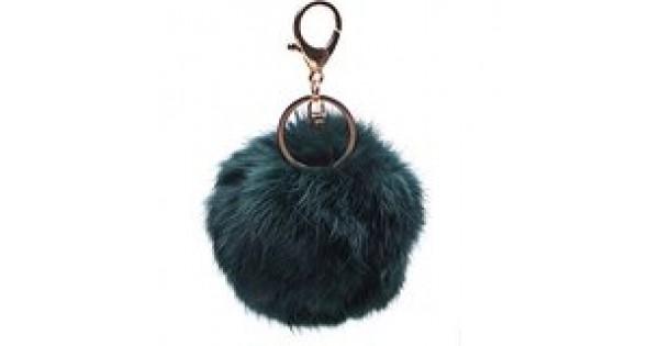 Puff Ball Keychain Fur Plush Key Ring Key Pendant Ball