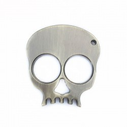 Metal Skull Keychain Defense Emergency Survival Tool