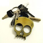 Metal Skull Keychain Self Defense Emergency Survival Tool