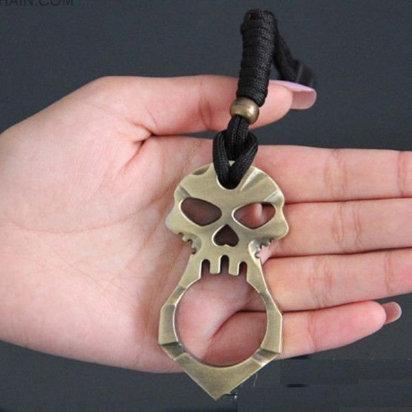 Alloy Metal Skull Keychain Tool