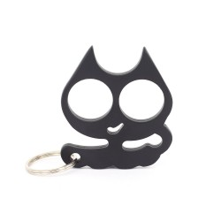 Alloy Cat Keychain with Key Ring