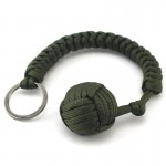 Outdoor Survival Carabiner Rope Keychain