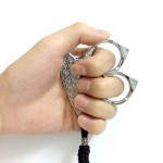 2 Fingers Stainless Defense Keyring Emergency Survival Tool