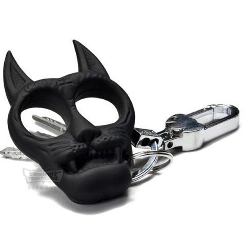 Tiger Self Defense Keychain Anti Wolf Emergency Safety Keychain Finger Grip Keyring Popkeychain