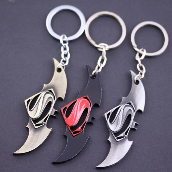 Avengers Superman Batman War alloy keyring
