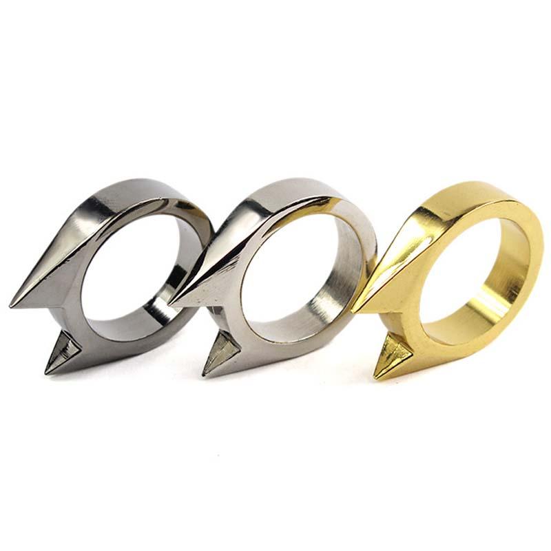 3pcs Cat Ear Self Defense Ring Anti Wolf Emergency Tool Popkeychain