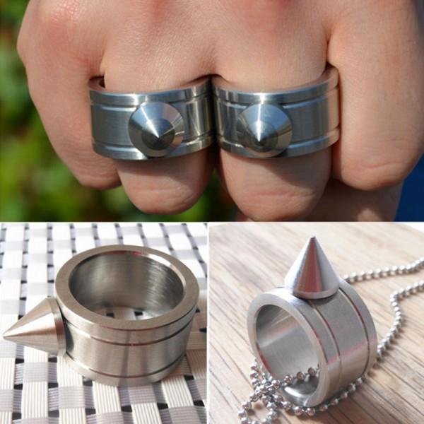 2 PCS Knuckles Buckle Self defense Key Rings