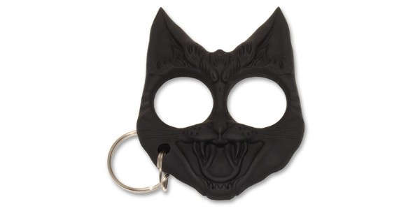 Wild Kats Self Defense Keyring Evil Cat Safety Keychain Finger
