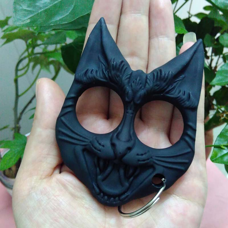 Wild Kats Self Defense Keyring Evil Cat Safety Keychain Finger Knuckles Popkeychain
