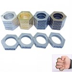 Transformable Alloy Steel Self Defense Survival Ring Tool