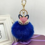 Fox Fur Ball Pom Pom Keychain