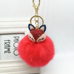 Puff Ball Keychain Fur Plush Key Ring Key Pendant Ball Keychain ... 510c1f0de