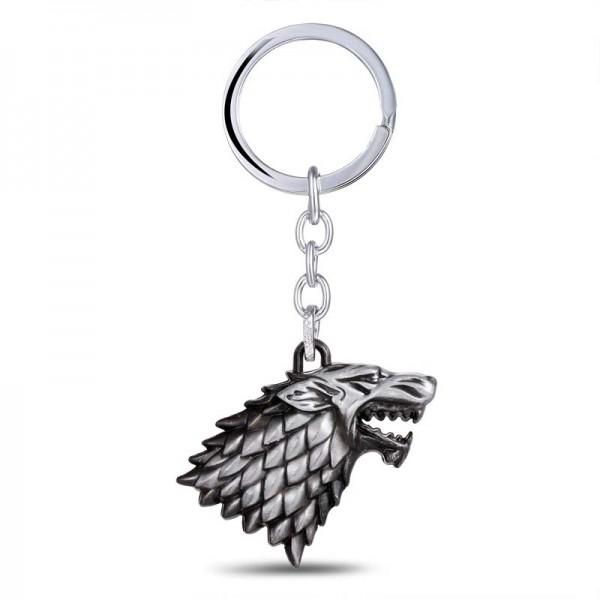 Game of Thrones House Stark Direwolf Sigil Keychain