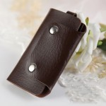 Womens Slim Key Holder Wallet Fashion Leather Car Key Cases