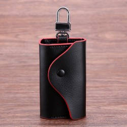 Genuine Leather Car Key Cases Wallet Card Keychain Holder