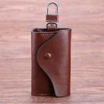 Genuine Leather Car Key Cases Wallet Card Keychain Holder