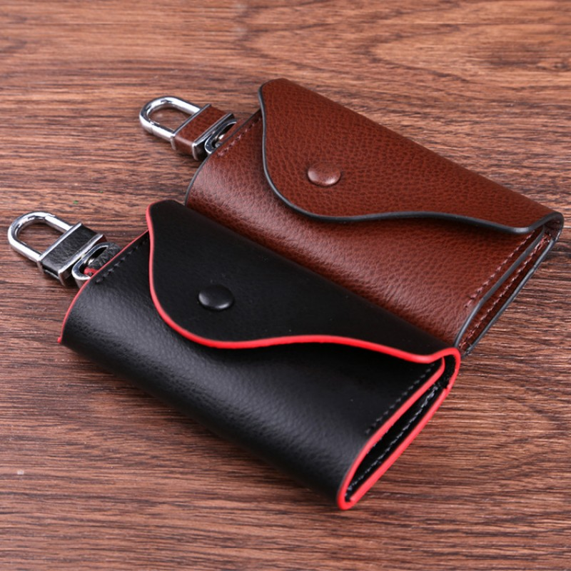 Genuine Leather Car Key Cases Ornament Key Case Wallet
