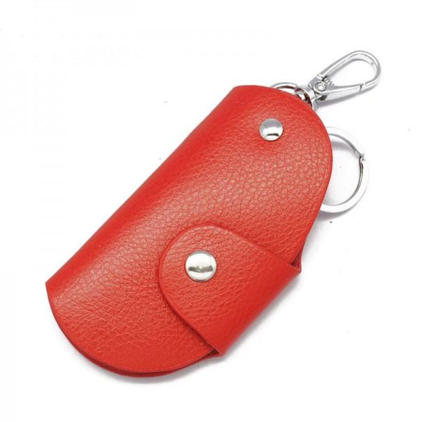 5 Color Genuine Leather Car Key Cases Wallet Card Keychain Bag