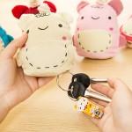 Cartoon Cute Bear Pocket Keychain Wallets Mini Coin Purses
