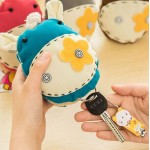 Creative Cartoon Korean Purse Decoration Handmade Cloth Cartoon Key Wallets