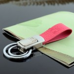 Handmade Couple Key Ring Leather Delicate Creative Keychain