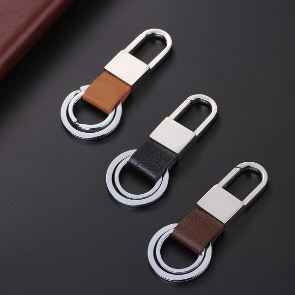 Business Leather Keychain with Key Rings