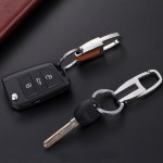 Luxury Business Keychain Leather & Metal Keyring Holder
