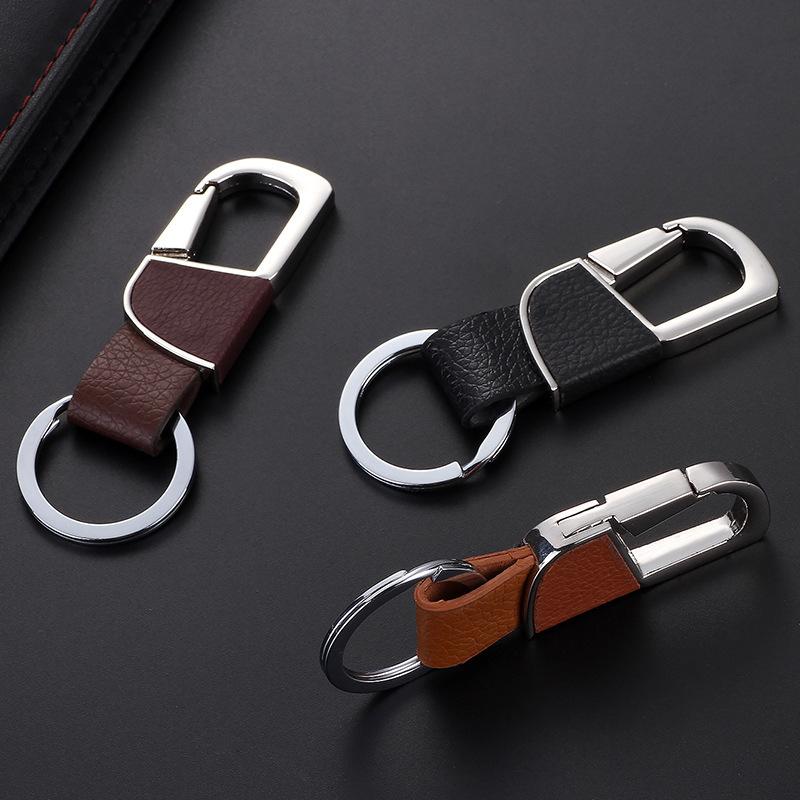 Key Ring Holder Premium Leather Keychain with Keyring ...