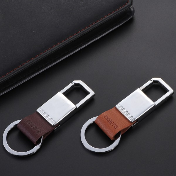 Classic Leather Keychain Attachable Key Chain Elegant Durable Key Holder