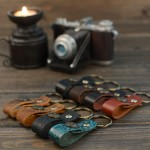Retro Leather Key Ring Holder Handmade Car Key Rings