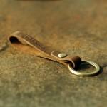 Handmade Retro Keychain Vegetable-Tanned Leather Long Key Ring Holder