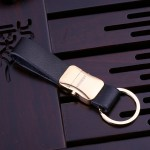 HONEST Genuine Leather Key Chain with Key Ring Business Car Keychain