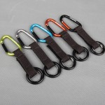 Cool Carabiner Keychain with Polyester Strap