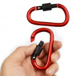 Outdoor Aluminum Alloy Buckle Carabiner Clip