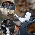 Carabiner Outdoor multi usage keychain tool